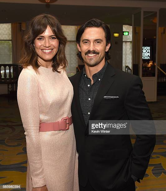 Actors Mandy Moore and Milo Ventimiglia attend the Hollywood Foreign Press Association's Grants Banquet at the Beverly Wilshire Four Seasons Hotel on...