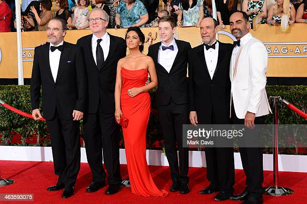 Actors Mandy Patinkin Tracy Letts Nazanin Boniadi Jackson Pace F Murray Abraham and Navid Negahban attend 20th Annual Screen Actors Guild Awards at...