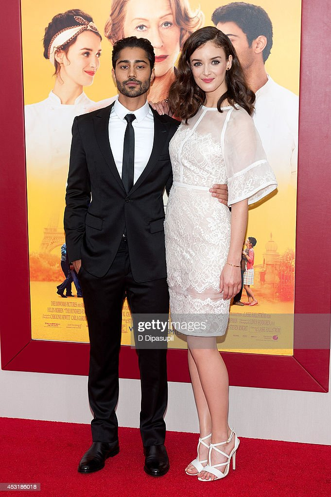 Actors <a gi-track='captionPersonalityLinkClicked' href=/galleries/search?phrase=Manish+Dayal&family=editorial&specificpeople=5593303 ng-click='$event.stopPropagation()'>Manish Dayal</a> (L) and <a gi-track='captionPersonalityLinkClicked' href=/galleries/search?phrase=Charlotte+Le+Bon&family=editorial&specificpeople=7162691 ng-click='$event.stopPropagation()'>Charlotte Le Bon</a> attend 'The Hundred-Foot Journey' New York premiere at the Ziegfeld Theater on August 4, 2014 in New York City.