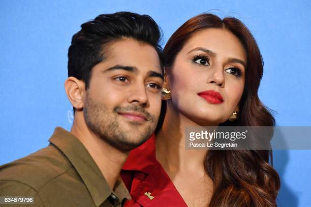 Actors Manish Dayal and Huma Qureshi attend the 'Viceroy's House' photo call during the 67th Berlinale International Film Festival Berlin at Grand...