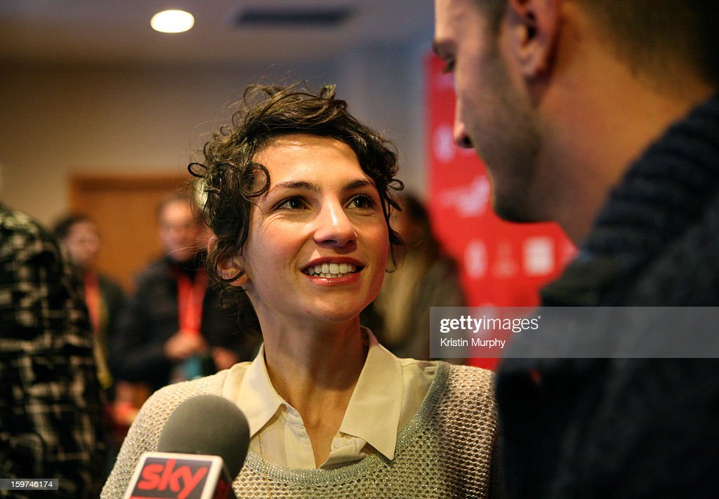 Actors Manuela Martelli and Nicolas Vapordis attends 'The Future' premiere at Prospector Square during the 2013 Sundance Film Festival on January 19, 2013 in Park City, Utah.