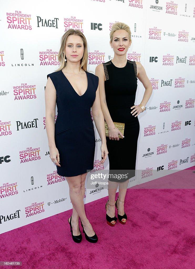 Actors Manuela Velles and Kira Miro attend the 2013 Film Independent Spirit Awards at Santa Monica Beach on February 23, 2013 in Santa Monica, California.