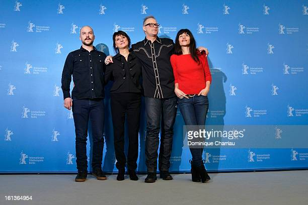 Actors MarcAndre Grondin Pierrette Robitaille director Denis Cote and actress Romane Bohringer attend the 'Vic Flo saw a bear' Photocall during the...