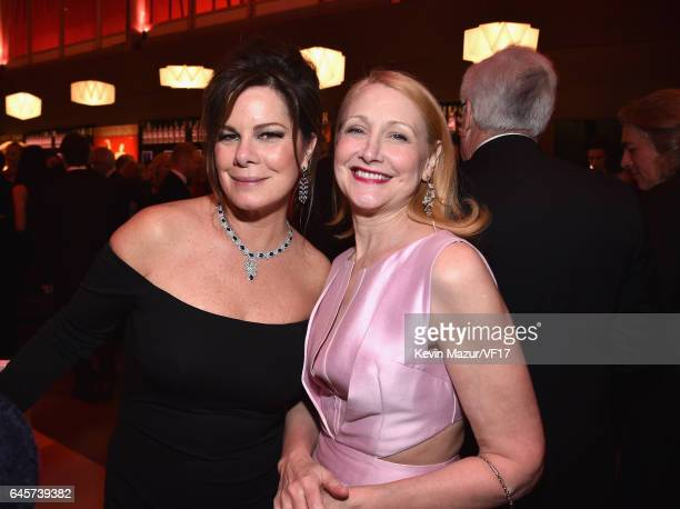 Actors Marcia Gay Harden and Patricia Clarkson attend the 2017 Vanity Fair Oscar Party hosted by Graydon Carter at Wallis Annenberg Center for the...
