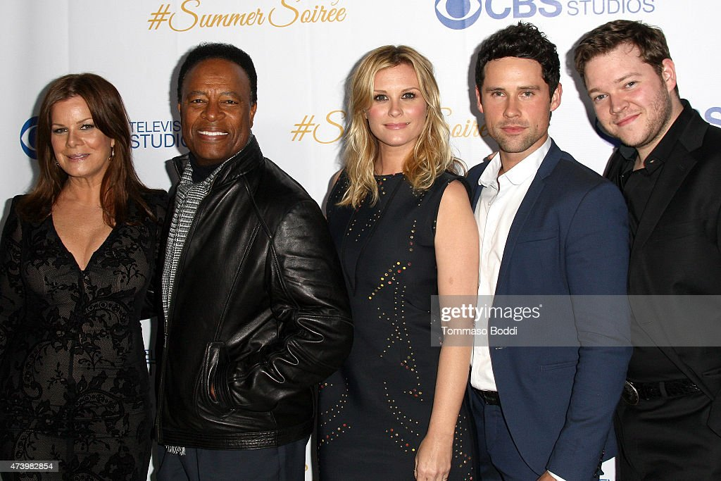 Actors Marcia Gay Harden William Allen Young Bonnie Somerville Ben Hollingsworth and Harry Ford attend the CBS Television Studios 3rd Annual Summer...