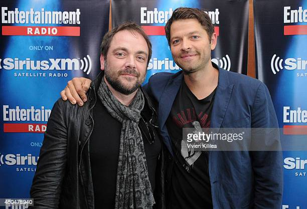 Actors Marck Sheppard and Misha Collins attend SiriusXM's Entertainment Weekly Radio Channel Broadcasts From ComicCon 2015 at Hard Rock Hotel San...