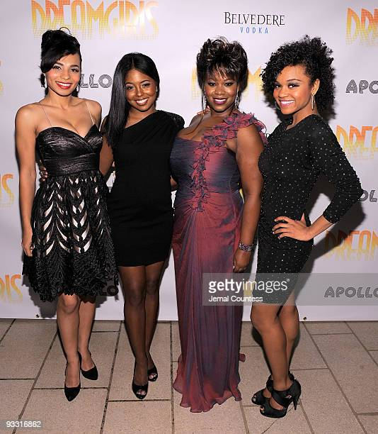 Actors Margaret Hoffman Adrienne Warren Moya Angela and Syesha Mercado attend the opening night after party for 'Dreamgirls' at Riverside Church on...