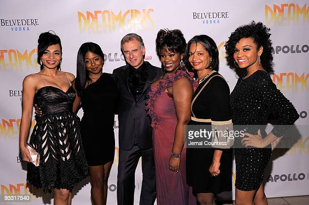 Actors Margaret Hoffman and Adrienne Warren join producer John Breglio actress Moya Angela President and Chief Executive Officer of the Apollo...
