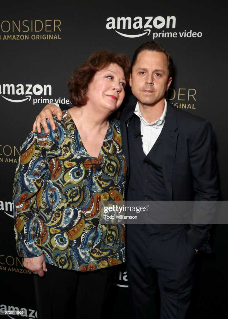 Actors Margo Martindale (L) and Giovanni Ribisi attend Amazon original series 'Sneaky Pete' Emmy FYC Screening and panel on April 26, 2017 in Hollywood, California.