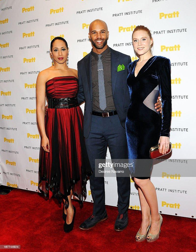 Actors Margot Bingham, Mark Tallman and Christiane Seidel attend the 2013 Pratt Institute gala at Mandarin Oriental Hotel on November 11, 2013 in New York City.