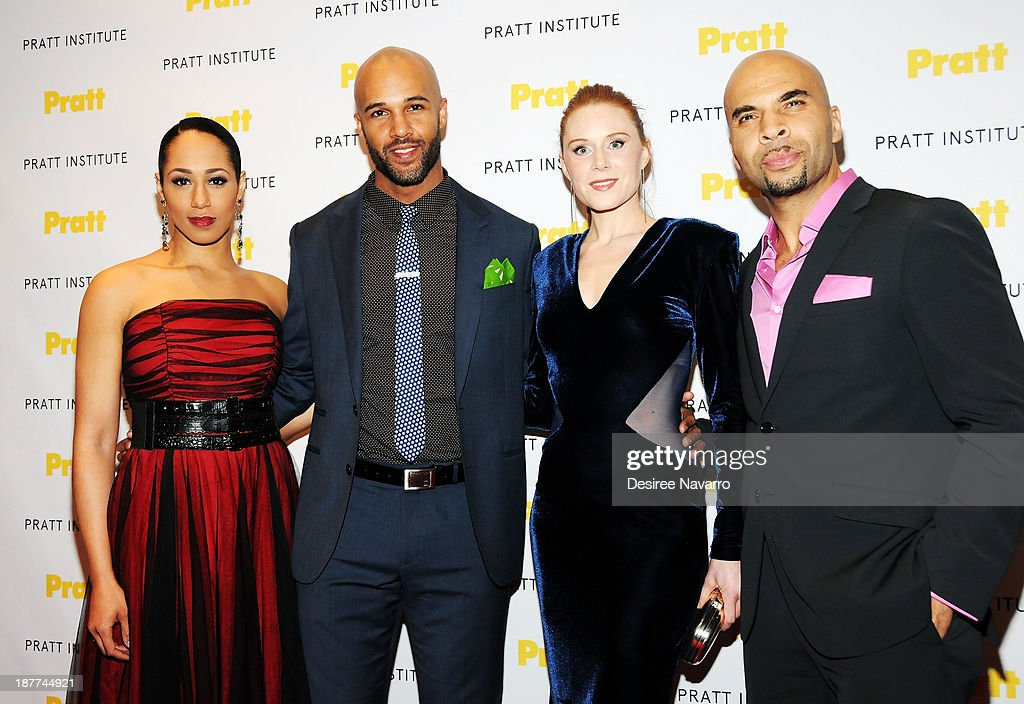 Actors Margot Bingham, Mark Tallman, Christiane Seidel and Jacinto Taras Riddick attend the 2013 Pratt Institute Gala at Mandarin Oriental Hotel on November 11, 2013 in New York City.