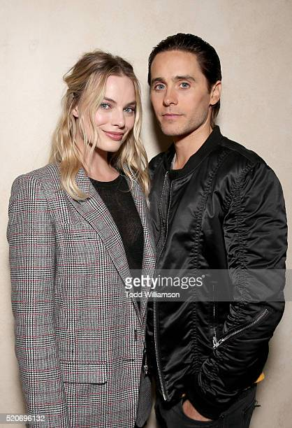 """Actors Margot Robbie and Jared Leto of 'Suicide Squad' attends CinemaCon 2016 Warner Bros Pictures Invites You to """"The Big Picture"""" an Exclusive..."""