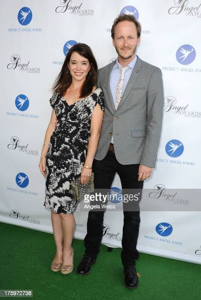 Actors Marguerite Moreau and Christopher Redman arrive at Project Angel Food's Annual Angel Awards 2013 honoring Jane Lynch held at Project Angel...