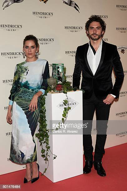 Actors Maria Leon and Paco Leon attend the Hendrick's Gin Christmas party on December 15 2015 in Madrid Spain