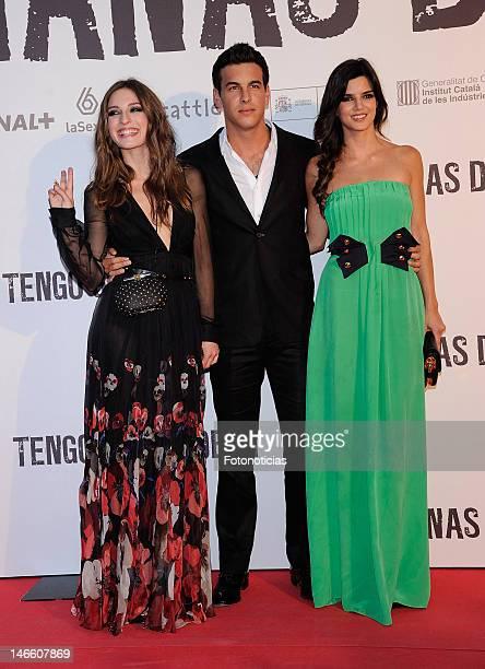 Actors Maria Valverde Mario Casas and Clara Lago attend the premiere of 'Tengo Ganas de Ti' at Callao Cinema on June 20 2012 in Madrid Spain