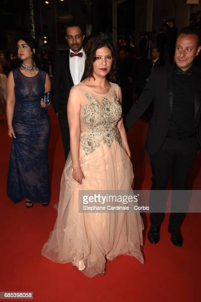 Actors Mariam Al Ferjani Ghanem Zrelli director Kaouther Ben Hania and producer Habib Attia from the movie 'Alaka Kaf Ifrit ' attend the 'Jupiter's...