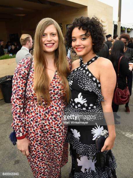 Actors Marianna Palka and Kiersey Clemons attend the 2017 Film Independent Spirit Awards at the Santa Monica Pier on February 25 2017 in Santa Monica...