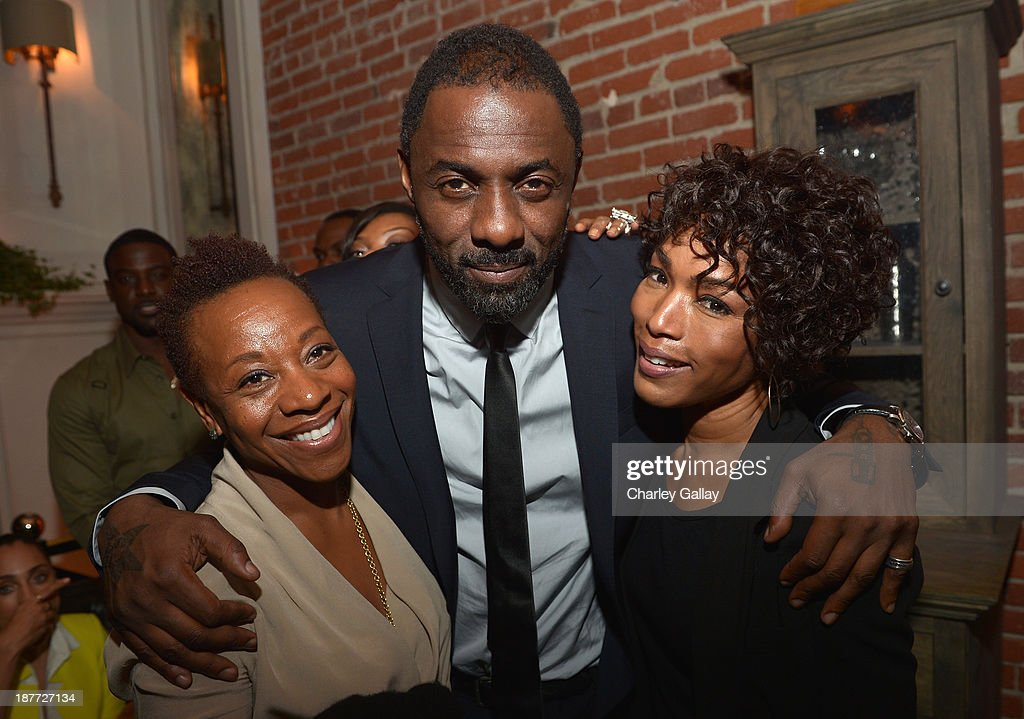 Actors <a gi-track='captionPersonalityLinkClicked' href=/galleries/search?phrase=Marianne+Jean-Baptiste&family=editorial&specificpeople=726457 ng-click='$event.stopPropagation()'>Marianne Jean-Baptiste</a>, <a gi-track='captionPersonalityLinkClicked' href=/galleries/search?phrase=Idris+Elba&family=editorial&specificpeople=215443 ng-click='$event.stopPropagation()'>Idris Elba</a>, and <a gi-track='captionPersonalityLinkClicked' href=/galleries/search?phrase=Angela+Bassett&family=editorial&specificpeople=171174 ng-click='$event.stopPropagation()'>Angela Bassett</a> attend the after party for 'The Weinstein Company Presents The LA Premiere Of 'Mandela: Long Walk To Freedom' Supported By Burberry' at Warwick on November 11, 2013 in Los Angeles, California.