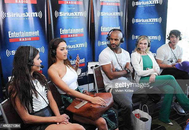 Actors Marie Avgeropoulos Lindsey Morgan Ricky Whittle Eliza Taylor and Bob Morley attend SiriusXM's Entertainment Weekly Radio Channel Broadcasts...