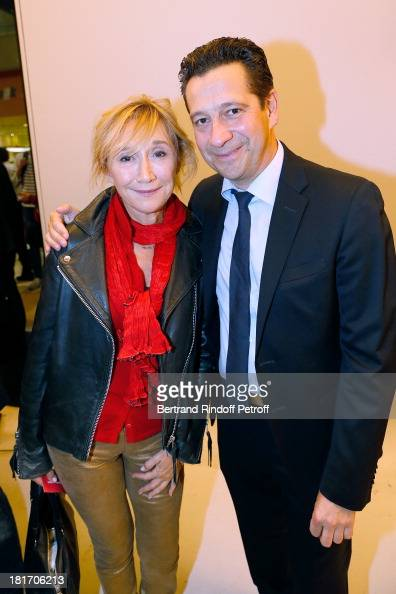 Actors MarieAnne Chazel and Laurent Gerra attend 'L'Escalier De Fer' with Laurent Gerra Private Screening in Paris on September 23 2013 in Paris...