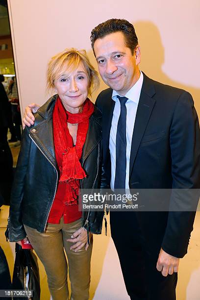 Actors MarieAnne Chazel and Laurent Gerra attend 'L'Escalier De Fer' with Laurent Gerra Private Screening in Paris on September 23 2013 in Paris...