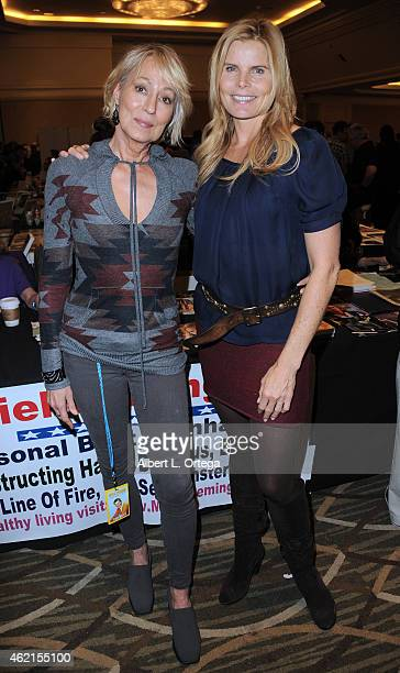 Actors Mariel Hemingway and Sandahl Bergman at The Hollywood Show held at The Westin Hotel LAX on January 24 2015 in Los Angeles California