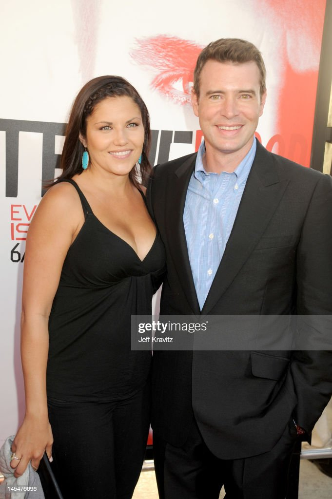 Actors Marika Dominczyk and Scott Foley arrive at HBO 'True Blood' season 5 premiere held at ArcLight Cinemas Cinerama Dome on May 30 2012 in...