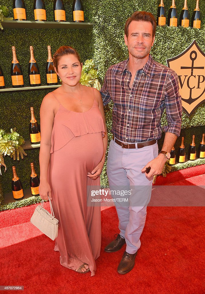 Actors Marika Dominczyk and Scott Foley attend the FifthAnnual Veuve Clicquot Polo Classic at Will Rogers State Historic Park on October 11 2014 in...