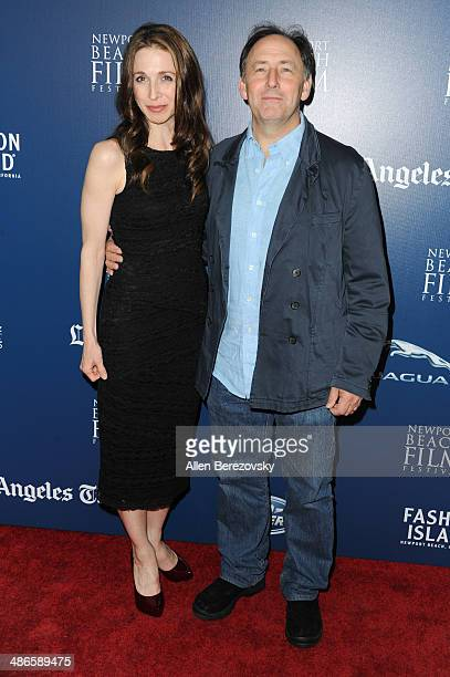 Actors Marin Hinkle and Ayre Gross attend a special screening of 'LOVESICK' during 2014 Newport Beach Film Festival at Big Newport Theater on April...