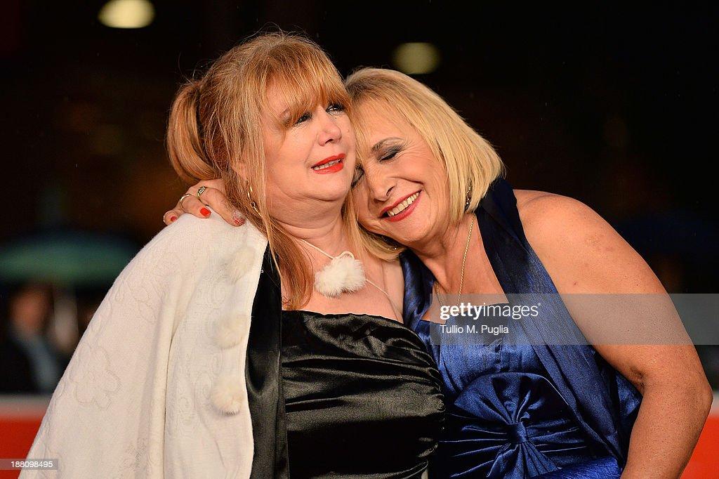 Actors Marioara Dadiloveanu (L) and Giuseppe Della Pelle attend the 'Fuoristrada' Premiere during The 8th Rome Film Festival at Auditorium Parco Della Musica on November 15, 2013 in Rome, Italy.