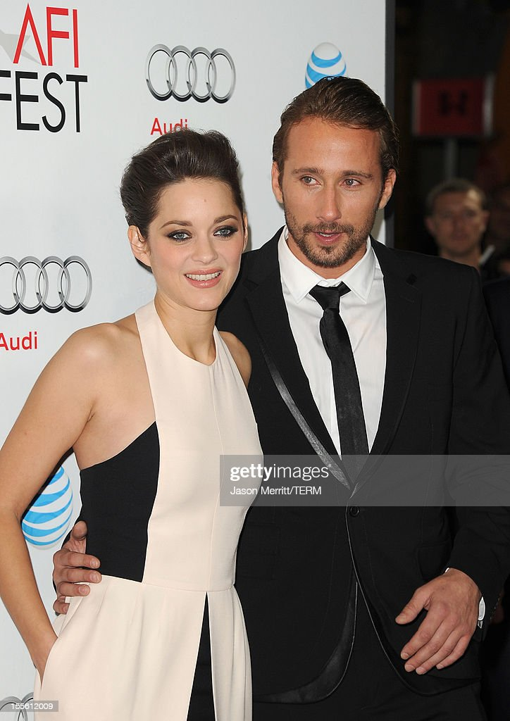 Actors Marion Cotillard and Matthias Schoenaerts arrive at the premiere of 'Rust and Bone' during the 2012 AFI Fest presented by Audi at Grauman's Chinese Theatre on November 5, 2012 in Hollywood, California.