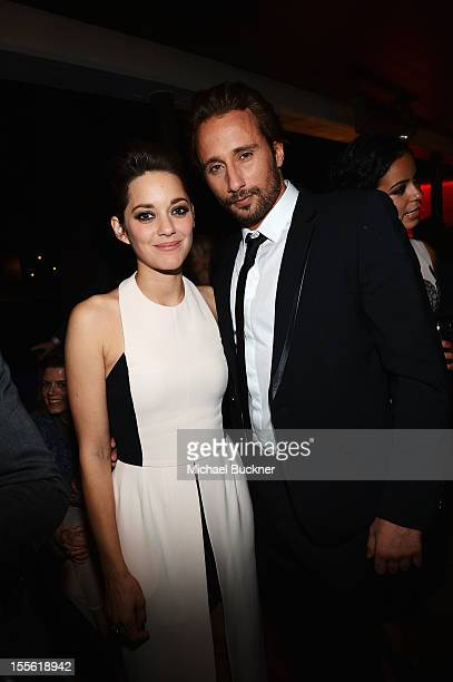 Actors Marion Cotillard and Matthias Schoenaerts attend the after party for the gala premiere of 'Rust and Bone' during the 2012 AFI Fest presented...