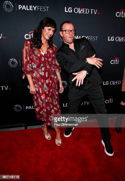 Actors Marisa Ramirez and Donnie Wahlberg attend PaleyFest NY 2017 'Blue Bloods' at The Paley Center for Media on October 16 2017 in New York City