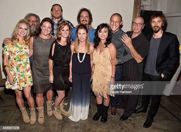 Actors Mark Boone Junior Charlie Hunnam Kim Coates Theo Rossi Dayton Callie and Niko Nicotera Boot Campaign's Heather Sholl Leigh Ann Ranslem Ginger...