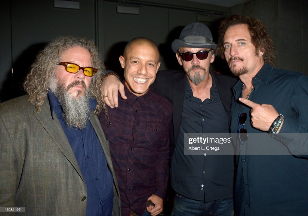 Actors <a gi-track='captionPersonalityLinkClicked' href=/galleries/search?phrase=Mark+Boone+Junior&family=editorial&specificpeople=4536038 ng-click='$event.stopPropagation()'>Mark Boone Junior</a>, <a gi-track='captionPersonalityLinkClicked' href=/galleries/search?phrase=Theo+Rossi&family=editorial&specificpeople=4015330 ng-click='$event.stopPropagation()'>Theo Rossi</a>, <a gi-track='captionPersonalityLinkClicked' href=/galleries/search?phrase=Tommy+Flanagan+-+Actor&family=editorial&specificpeople=13422249 ng-click='$event.stopPropagation()'>Tommy Flanagan</a> and <a gi-track='captionPersonalityLinkClicked' href=/galleries/search?phrase=Kim+Coates&family=editorial&specificpeople=678530 ng-click='$event.stopPropagation()'>Kim Coates</a> attend FX's 'Sons of Anarchy' panel during Comic-Con International 2014 at San Diego Convention Center on July 27, 2014 in San Diego, California.