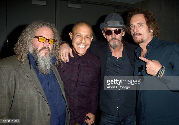 Actors Mark Boone Junior Theo Rossi Tommy Flanagan and Kim Coates attend FX's 'Sons of Anarchy' panel during ComicCon International 2014 at San Diego...