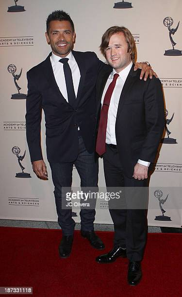 Actors Mark Consuelos and Haley Joel Osment attend The Television Academy Presentation of Amazon Studios at The Television Academy at Leonard H...