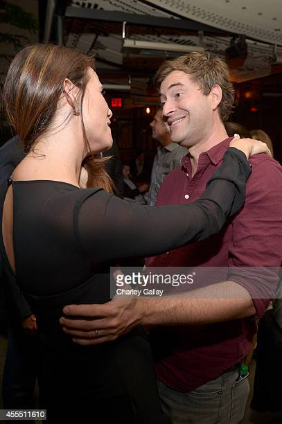 Actors Mark Duplass and Amy Landecker attend the Amazon red carpet premiere screening for brandnew dark comedy 'Transparent' at The Theatre at Ace...
