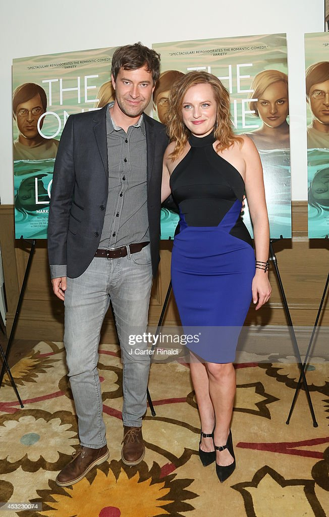 Actors <a gi-track='captionPersonalityLinkClicked' href=/galleries/search?phrase=Mark+Duplass&family=editorial&specificpeople=572703 ng-click='$event.stopPropagation()'>Mark Duplass</a> (L) and Elisabeth Moss attend 'The One I Love' New York Screening at the Crosby Street Theater on August 5, 2014 in New York City.