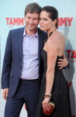 Actors Mark Duplass and Katie Aselton arrive at the premiere of 'Tammy' at TCL Chinese Theatre on June 30 2014 in Hollywood California