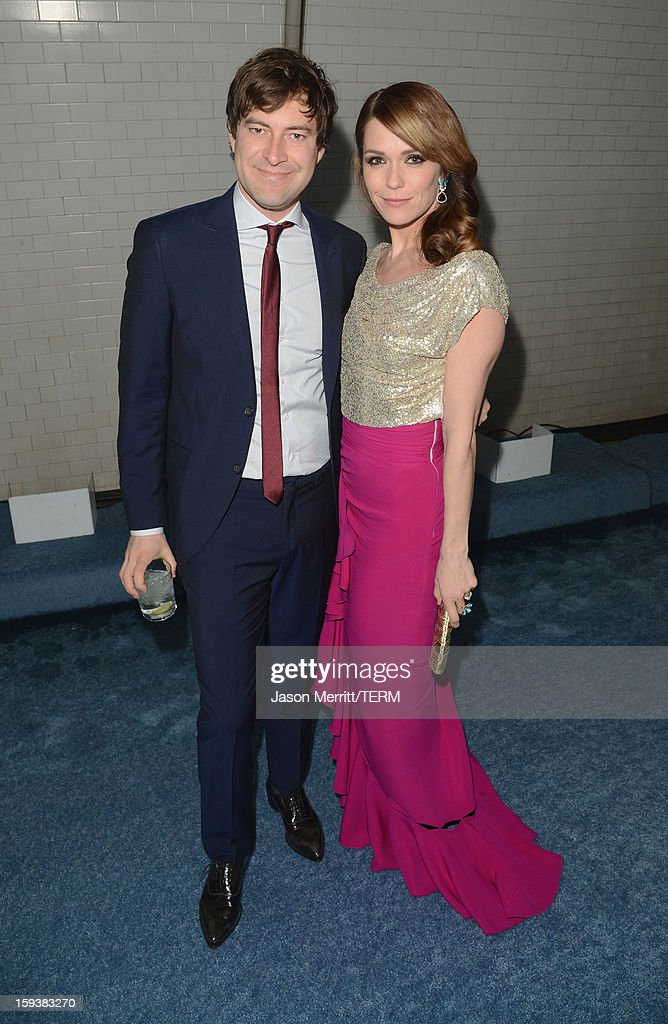 Actors Mark Duplass and Katie Aselton attend The Art of Elysium's 6th Annual HEAVEN Gala presented by Audi at 2nd Street Tunnel on January 12, 2013 in Los Angeles, California.