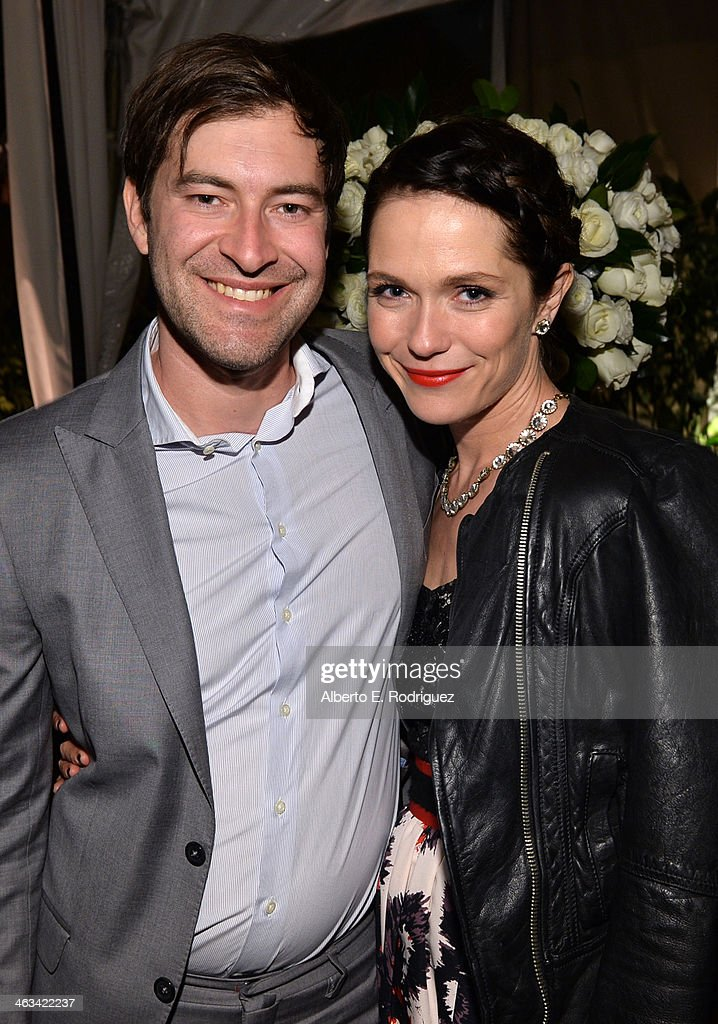 Actors <a gi-track='captionPersonalityLinkClicked' href=/galleries/search?phrase=Mark+Duplass&family=editorial&specificpeople=572703 ng-click='$event.stopPropagation()'>Mark Duplass</a> (L) and <a gi-track='captionPersonalityLinkClicked' href=/galleries/search?phrase=Katie+Aselton&family=editorial&specificpeople=6457083 ng-click='$event.stopPropagation()'>Katie Aselton</a> attend the Entertainment Weekly celebration honoring this year's SAG Awards nominees sponsored by TNT & TBS and essie at Chateau Marmont on January 17, 2014 in Los Angeles, California.