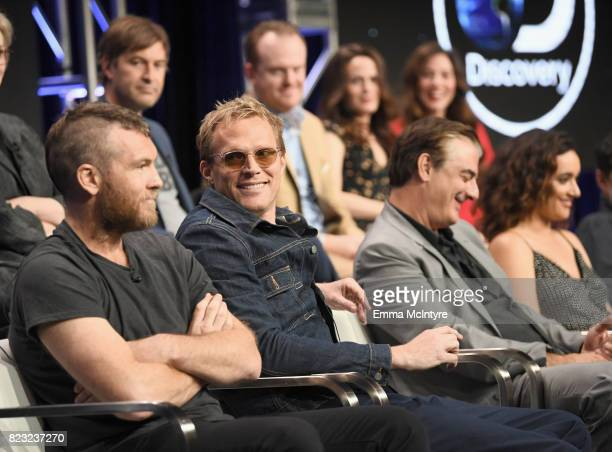 Actors Mark Duplass Jeremy Bobb Elizabeth Reaser and Lynn Collins Actors Sam Worthington Paul Bettany Chris Noth and Keisha CastleHughes at the...