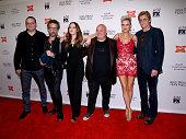 Actors Mark Gessner John Ales Elizabeth Gillies Robert Kelly Elaine Hendrix and Denis Leary attend the 'SexDrugsRockRoll' Season 2 premiere at AMC...