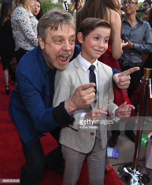 Actors Mark Hamill and Jacob Tremblay attend the opening night premiere of Focus Features' 'The Book of Henry' during the 2017 Los Angeles Film...