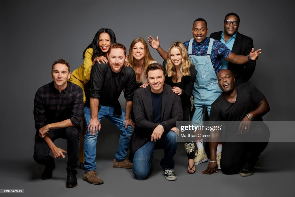 Actors Mark Jackson, Penny Gerald Johnson, Scott Grimes, Adrianne Palicki, Seth MacFarlane, Halston Sage, J. Lee, Chad Coleman and Peter Macon from The Orville are photographed for Entertainment Weekly Magazine on July 22, 2017 at Comic Con in San Diego, California. PUBLISHED