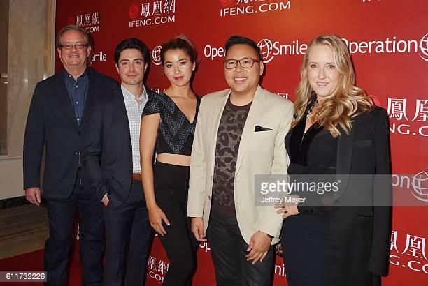 Actors Mark McKinney Ben Feldman Nichole Bloom Nico Santos and NBC Entertainment President Jennifer Salke arrive at Operation Smile's Annual Smile...