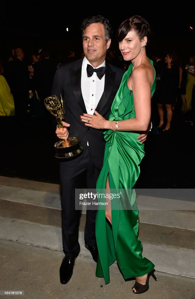 Actors <a gi-track='captionPersonalityLinkClicked' href=/galleries/search?phrase=Mark+Ruffalo&family=editorial&specificpeople=209317 ng-click='$event.stopPropagation()'>Mark Ruffalo</a> (L) and Sunny Coigney attend the 66th Annual Primetime Emmy Awards Governors Ball held at Los Angeles Convention Center on August 25, 2014 in Los Angeles, California.