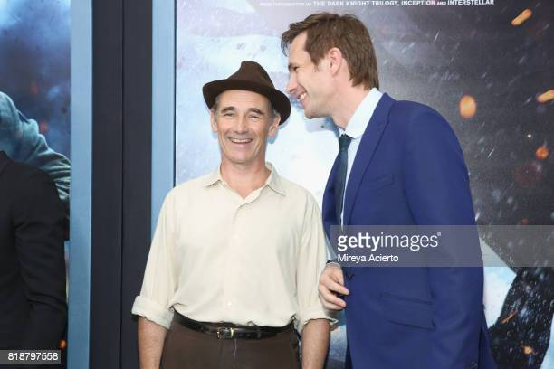 Actors Mark Rylance and James D'Arcy attend the 'DUNKIRK' New York Premiere on July 18 2017 in New York City