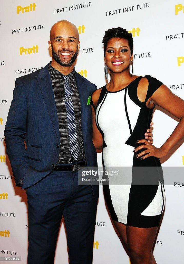 Actors Mark Tallman and Cassandra Freeman attend the 2013 Pratt Institute gala at Mandarin Oriental Hotel on November 11, 2013 in New York City.